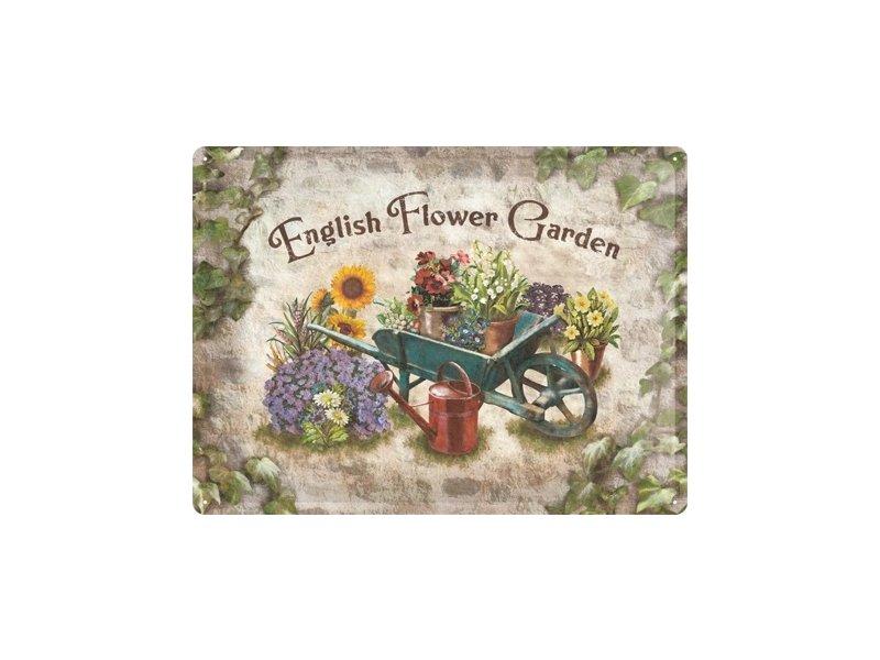Plechová cedule English flower garden