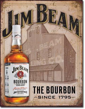 Plechová cedule Jim Beam The Bourbon
