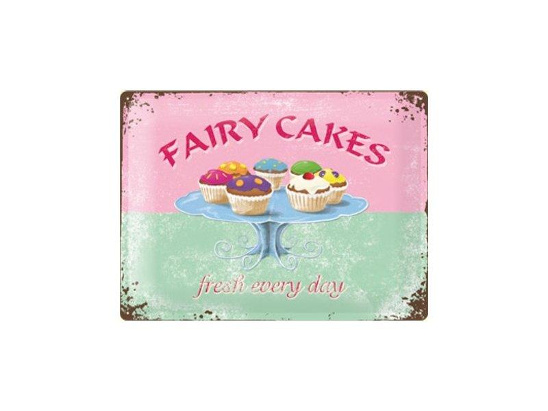 Plechová cedule Zmrzlina - Fairy cakes - fresh every day