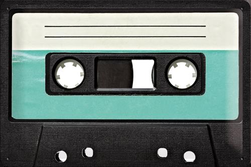 Plechová cedule Magnetofonová kazeta - totální retro!