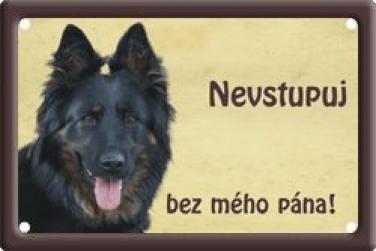 Plechová cedulka Chodský pes Nevstupuj bez mého pána