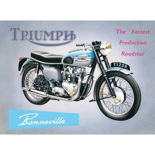 Plechová cedule motorka Triumph Bonneville T120R