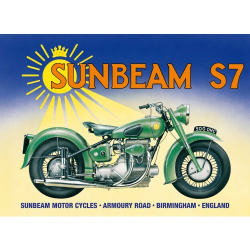 Plechová cedule motorka Sunbeam S7