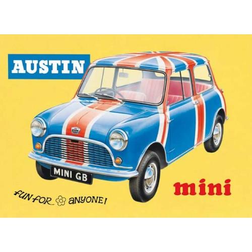 Plechová cedule auto Austin Mini