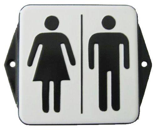 Smaltovaná cedulka na dveře WC - Ženy + Muži