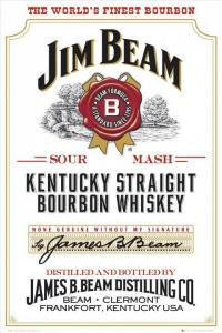 Plechová cedule Jim Beam white The worlds finest bourbon
