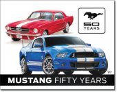 Plechová cedule auto Ford Mustang 50th years