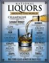 Plechová cedule Liquors from around the world - alcohol