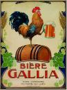 Plechová retro cedule Biére Gallia
